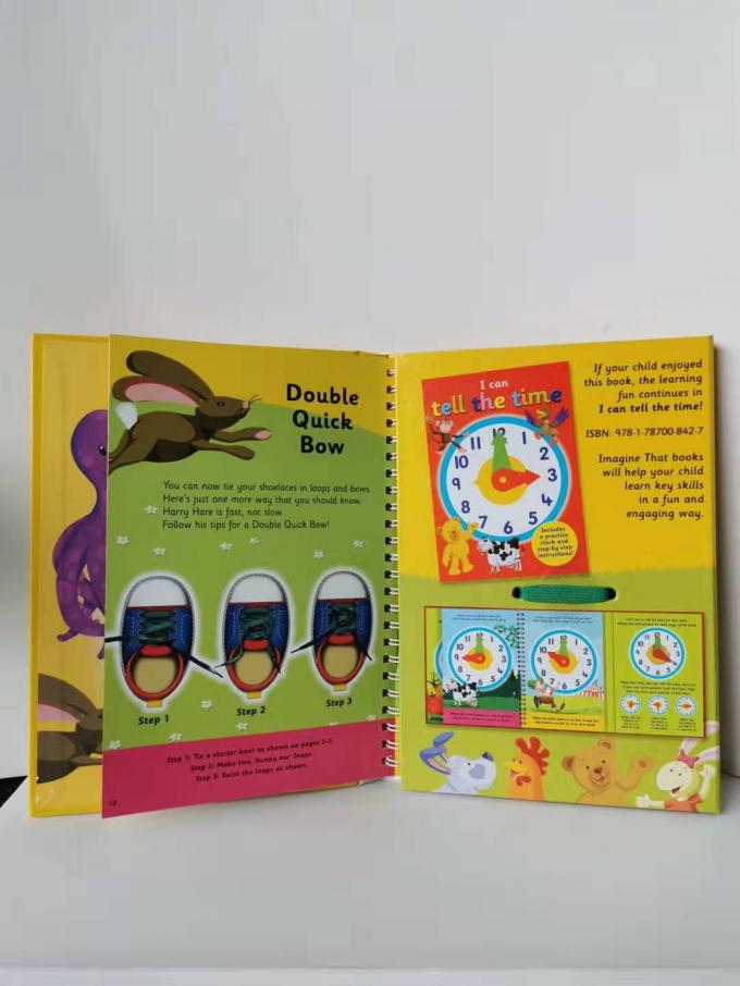 Foldable Diecut Baby Board Book Printing 18*18.5cm Small Size For Learning