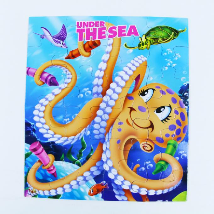 Fun Children Under The Sea Jigsaw Puzzles Board Games Printing For Baby / Kids puzzle games puzzle fun cardboard puzles