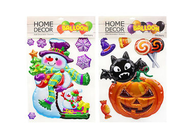 China Pumpkin Kids Sticker Printing , Custom Embossed Stickers Home Decoration factory