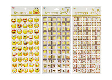 China Adhesive Kids Sticker Printing Smily Face Emoji Or Letter Symbols Patten factory