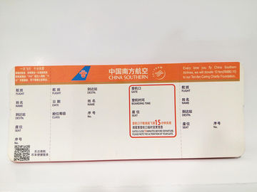 China Airline Event Pass Printing Foldable Paper Boarding Portable UV Coating factory