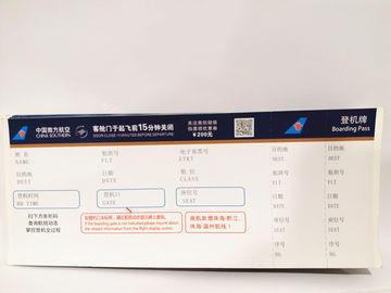 China Custom Made Print Movie Tickets Metallic Foil Environmental Protection factory