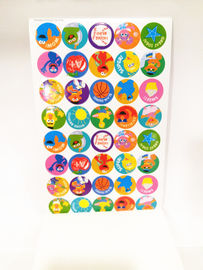 China Round Kids Paper Sticker Book Printing , Personalized Stickers factory
