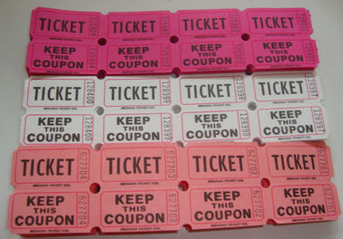 China Non Toxic Perforated lottery Ticket Printing Raffle Coupon Paper Supply Disposable factory