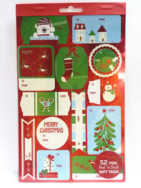 China Christmas Sticker Printing White Paper Board Sheet Holiday Decoration factory