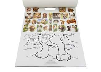 China Kids Custom Coloring Book Printing , Animal Cartoon Sticker Coloring Book factory