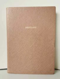 China Promotional Products Custom Made Journal Book Sewing Binding With A Pink PU Cover factory