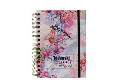 China Hard Cover Custom Printed Metal Double Spiral Notebooks printing service factory