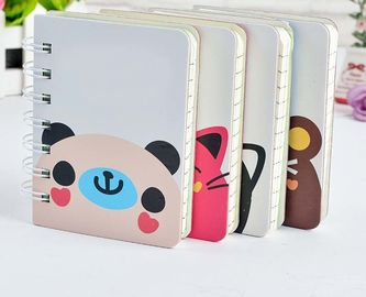 China Custom Made Spiral Binder Notebook Cute Cartoon Printed Paper Cover factory
