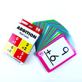 China Addition Children'S Learning Flash Cards , Playing Game Cards 90*130mm factory