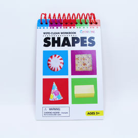 11 Sheets Wipe Clean Workbook Collection Shape Cards 108x165mm