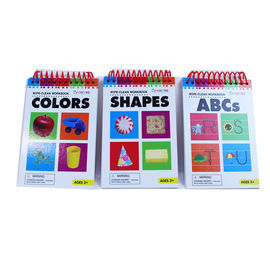 China 11 Sheets Wipe Clean Workbook Collection Shape Cards  color cards ABCs cards 108x165mm factory