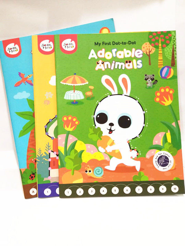 Hardback Childrens Book Printing , Baby Short Run Book Printing Glued Custome Binding supplier