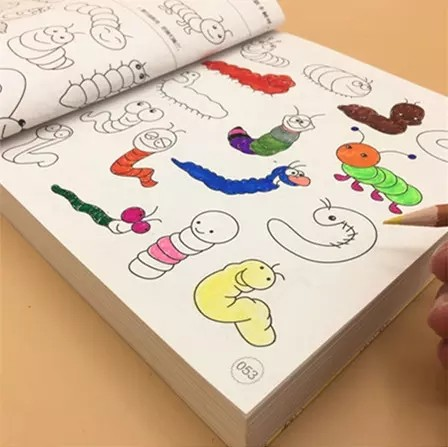 - Blank Coloring Book Pages For Kids Water Brush Pen Magic Water Painting
