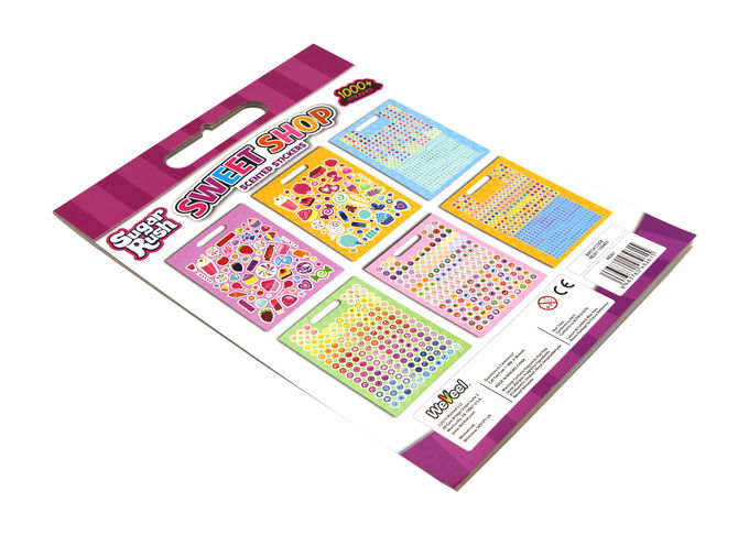 "Coloring Stickers Book Printing Removable 4""X8"" Multi Size Customized"